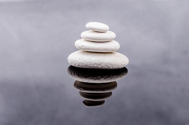 Pile of stones kern zen