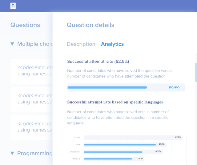HackerEarth interface
